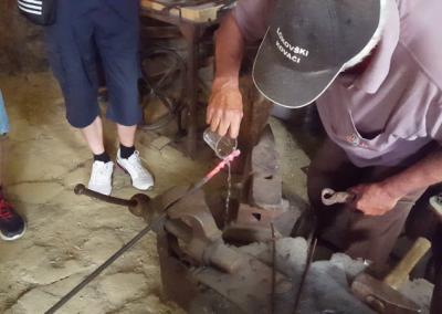 Ogled kovaške delavnice in muzeja v Lokovcu